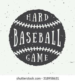 Vintage baseball logo, emblem, badge. Vector illustration