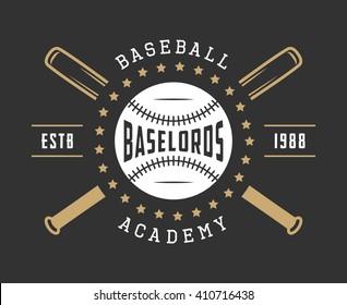 Vintage baseball logo, emblem, badge and design elements. Vector illustration
