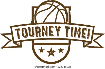 Vintage Basketball Tournament Graphic