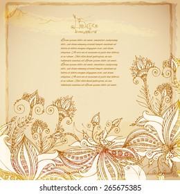 Vintage batik background
