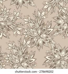 Vintage batik seamless background