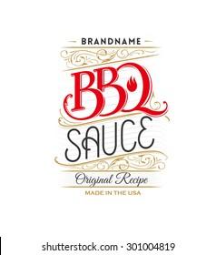 Vintage BBQ sauce logo
