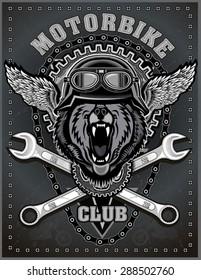 vintage Bear motorcycle label