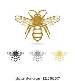 Vintage Bee Images Stock Photos Vectors Shutterstock