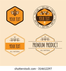Vintage bee products labels
