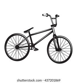 Vintage bicycle monochrome vector illustration. Trendy design element for labels, badges, prints and posters.