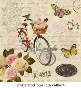 Vintage bicycle poster.