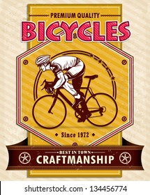Vintage Bicycle poster design