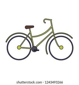 Vintage bike cartoon