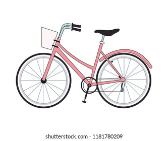 Vintage bike isolated
