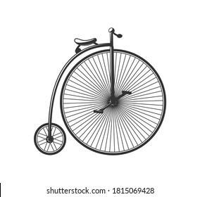 Vintage bike silhouette isolated on white background. Design elements. Vector illustration