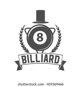 vintage billiard label, emblem, logo and design elements