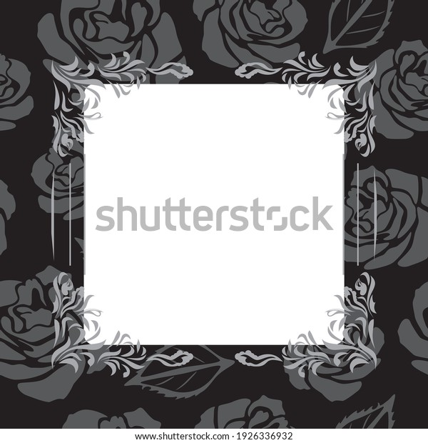 vintage-black-decorative-frame-roses-600