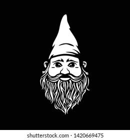 Vintage black Gnome logo inspiration - vector