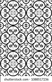vintage black and white tiles template background design vector/illustration