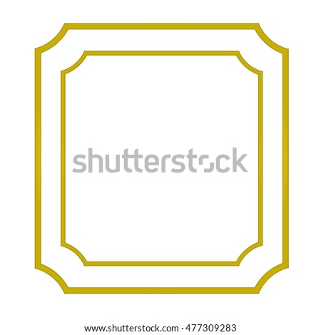 38c9414f9643 Vintage Blank Gold Frame Isolated On Stock Vector (Royalty Free ...