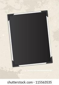 Vintage blank photo background