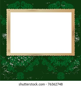 Vintage blank picture frame,vector