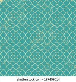 Vintage Blue Green Worn Pattern Background
