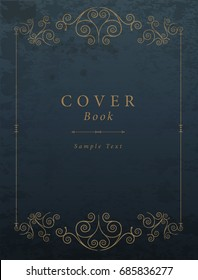Vintage Book Cover. Vector Illustration