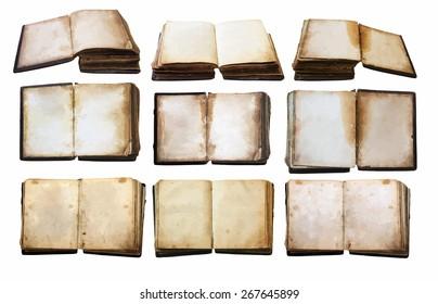 vintage books set, vector