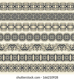 Vintage border set for design