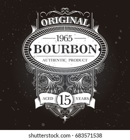 Vintage bourbon label