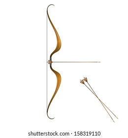 Vintage bow and arrows