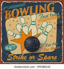 Vintage Bowling  poster.