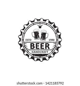 vintage brewery badges, labels, emblems and logo