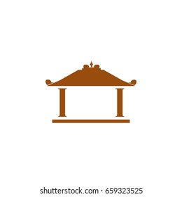 vintage building from java indonesia logo icon the name is joglo