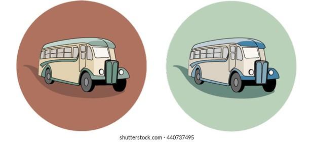 Vintage Bus Illustration