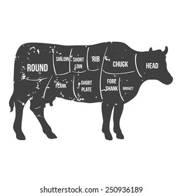 cow outline images stock photos  vectors  shutterstock