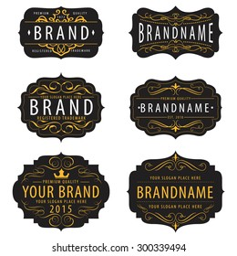 Vintage  calligraphic  frames collection ,elements for your logo template,label,badge,brand identity,menu restaurant