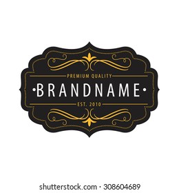 Vintage  calligraphic  frames,elements for your logo template,label,emblem,badge,brand identity,menu restaurant