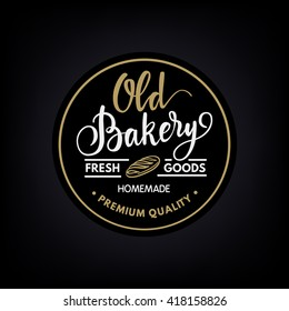 Vintage calligraphy bakery logo