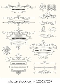 Vintage Calligraphy Design Elements