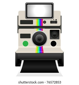 Vintage camera isolated over white background