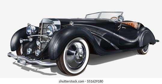 Illustration Car Vintage Stock Vectors, Images & Vector Art ...