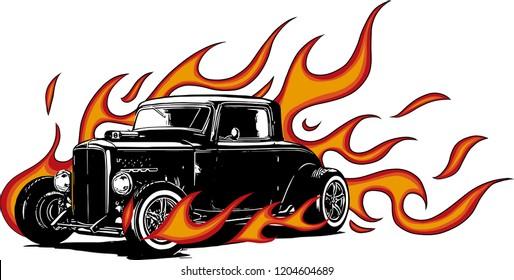 vintage car, hot rod garage, hotrods car,old school car,