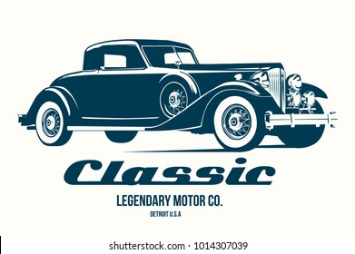 vintage car t shirt design vector