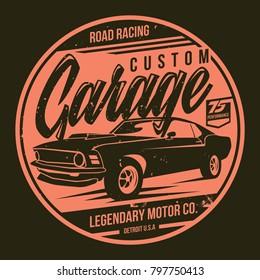 vintage car t shirt design vector file