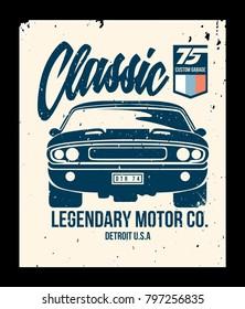 vintage car t shirt vector
