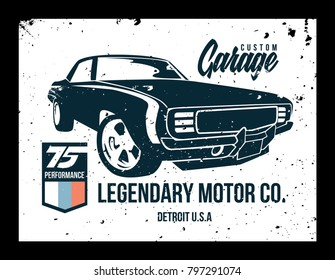vintage car t shirt vector file