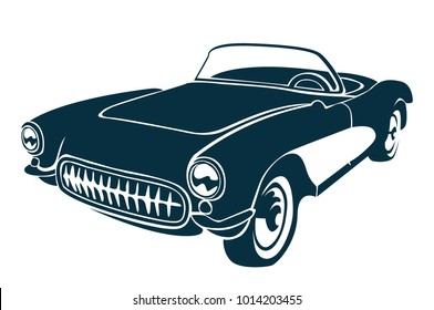 vintage car vector file