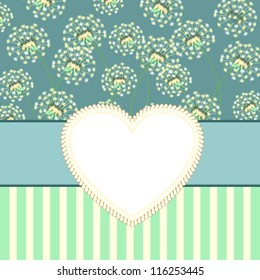 Vintage card with dandelions