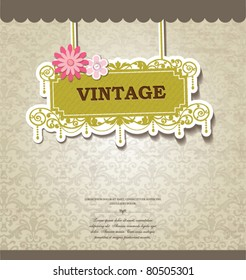 vintage card design for greeting card, invitation, menu, cover...