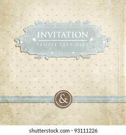 Vintage card design for greeting card, invitation, menu