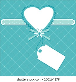 Vintage card design with heart