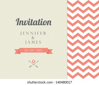Vintage card, for invitation or announcement